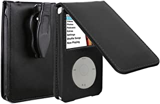 HAL® Leather Case For Apple iPod Video classic 80G and 120G wallet protective with movable belt clip Black