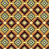 Southwest Argyle Orange Cotton Fabric by The Yard