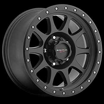 18 x 9. inches //5 x 5 inches, 10 mm Offset Walker Evans 504MB Legacy Satin Black with Diamond Cut Face Wheel with Painted Finish