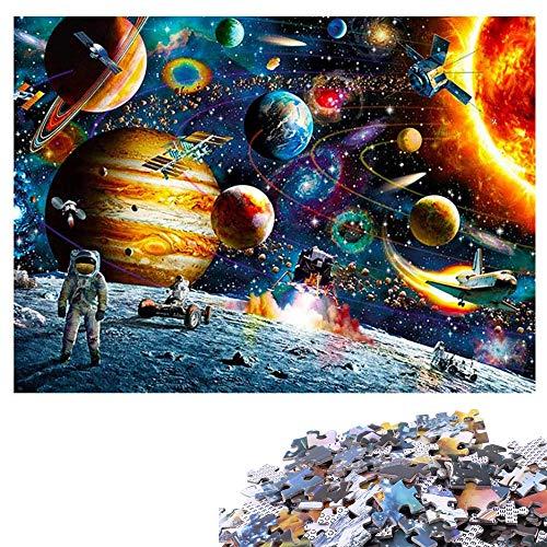 COOTA Puzzle Classici 1000 Pezzi Sistema Solare per Bambini Adulti, Jigsaw Puzzle Intelligence Puzzle da Pavimento Home Decor Puzzle Jigsaw Pieces Collezione di Giochi per Famiglie 70 * 50 CM