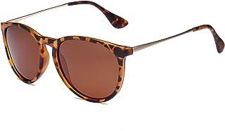 Polarized Sunglasses Vintage Retro Round Mirrored Lens for Women Men