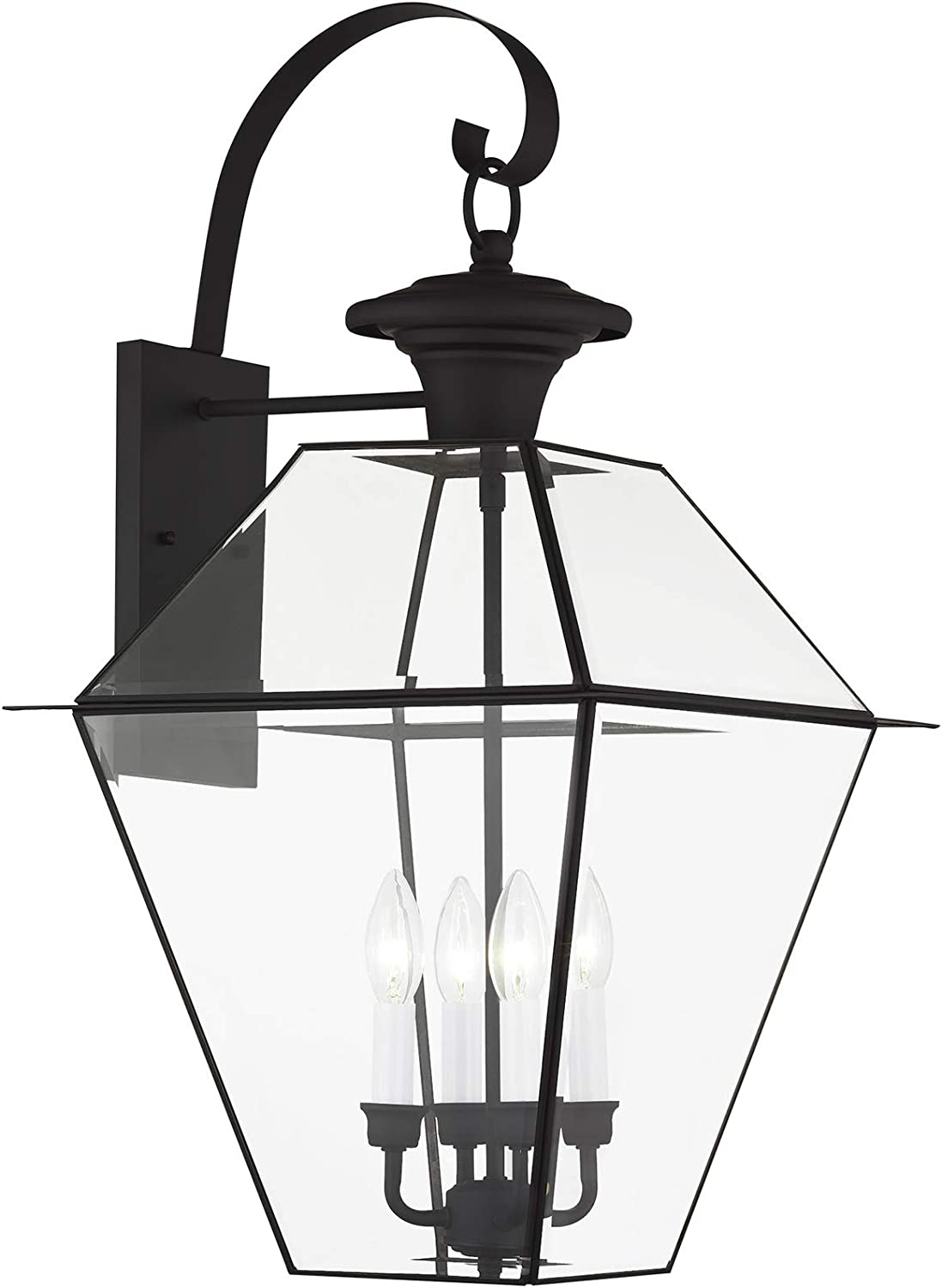 Livex Lighting Limited Special Price 2386-04 Detroit Mall Westover 4-Light Wall Bl Outdoor Lantern
