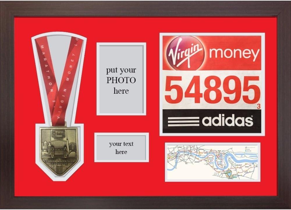SPORTS MEDALS FRAME London Marathon 2019 Display Frame For Medal Sporting Games Medals Display Frames Title And Photo \u2013 White Mount