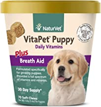 NaturVet – VitaPet Puppy Daily Vitamins for Dogs – Plus Breath Aid – Specifically Formulated to Provide Puppies with Essential Vitamins, Minerals, Amino Acids & Fatty Acids