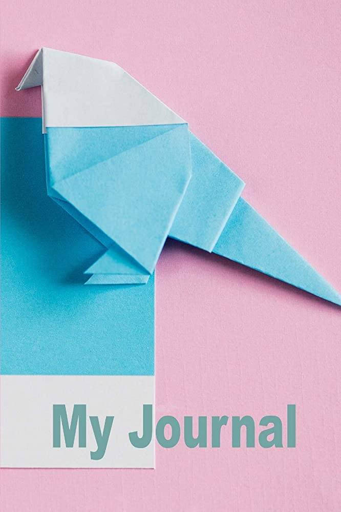 狼ガラガラ縮れたMy Journal. For Origami Lover. Blank Lined Planner Notebook Diary.