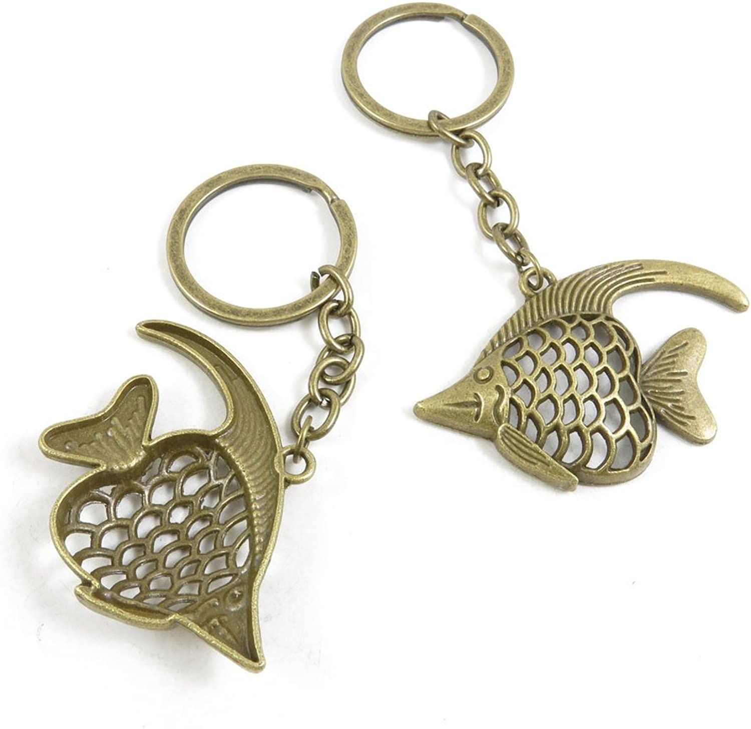 110 Pieces Fashion Jewelry Keyring Keychain Door Car Key Tag Ring Chain Supplier Supply Wholesale Bulk Lots G6JR0 Tropical Fish