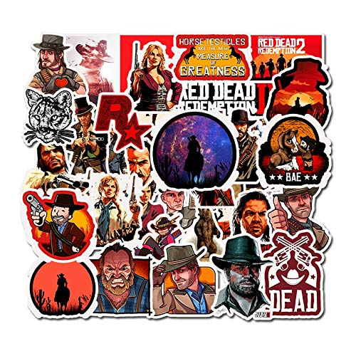 QINGMI Top Game Red Dead Redemption Stickers For Notebook Pc Skateboard Bicycle Motorcycle DIY Waterproof Toys Sticker F5 50Pcs