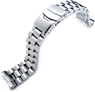 22mm Solid Metal Replacement Watch Band for Seiko Diver 6309-7040, 7049, Brushed
