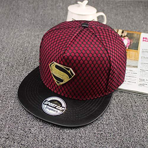 AHHMT Moda Verano Superman Gorra de béisbol Sombrero para Hombres Mujeres Adolescentes Casual Hueso Hip Hop Snapback Gorras Sombreros para el Sol