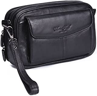 Leather Clutch Purse Wallet for Men Organizer Holder Wrist Bag