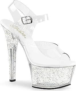 Pleaser Women's Aspire-608MG Ankle-Strap Sandal