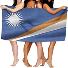 "Marshall Islands Flag Beach Towels Polyester Quick Dry Soft Bath Sheets,Summer Novelty Travel Large Bath Towels For Yoga Mat Beach Cover Blanket 31.5"" X 51.2"""