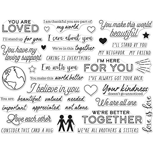 Hero Arts You Are Loved Messages Photopolymer Clear Stamp