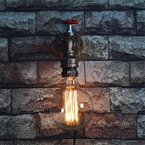 Atmko®Applique Murale Vintage Industriel Appliques Applique Applique Applique Chambre Couloir Couloir Bar Cafe Escalier Simple Fer Forgé L'eau Tuyaux Applique E27 * 1