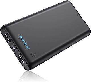 Pxwaxpy Powerbank, bärbar laddare [2 6 800 mAh senaste versionen] Hög kapacitet externt batteripaket med 4 LED-lampor ultr...
