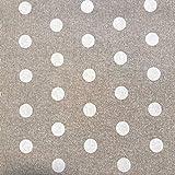 Staab's Beschichtete Baumwolle Dekostoff beige weiß