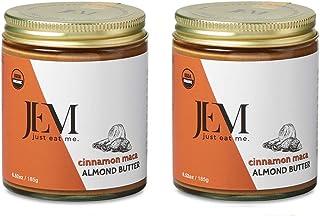 JEM Cinnamon Maca Almond Nut Butter, All Natural, Organic, Gluten-Free, Vegan, Paleo, Keto Snack, 6 oz Jar, 2-Pack