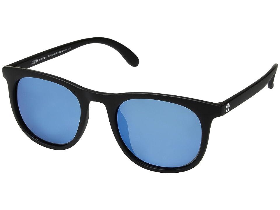 Sunski Seacliff (Black/Aqua) Sport Sunglasses