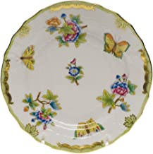 Herend Queen Victoria Green Porcelain Bread and Butter Plate