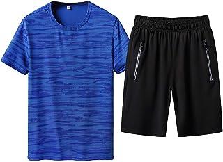 iYmitz Mens Fashion Tops and Shorts Suit, Mens Short Pyjama Set Cotton Men Pyjamas Set Summer Loungewear Sleepwear Top & B...