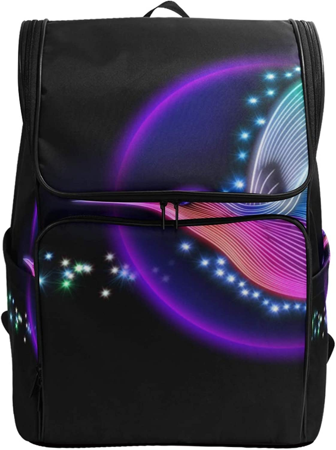 FANTAZIO 3D Render Hummingbird with Stars Laptop Outdoor Backpack Travel Hiking Camping Rucksack Pack, Casual Large College School Daypack