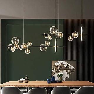 LED moderna lámpara pendiente G4 y lámpara LED bola de cristal lámpara colgante creativo lámpara regulable en altura hermosa lámpara pendiente de la bola de cristal transparente,6000k,10*G4