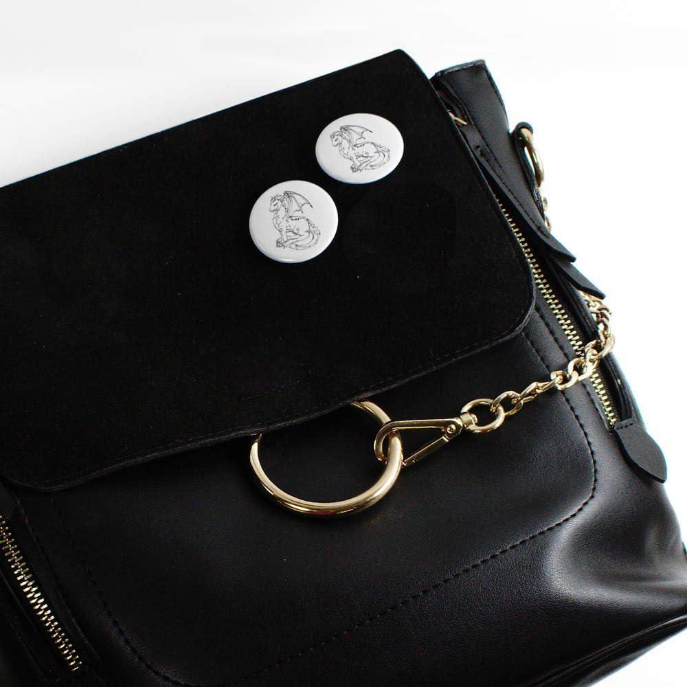 BB00052535 Azeeda 58mm Drache sitzen Pin Knopf-Abzeichen