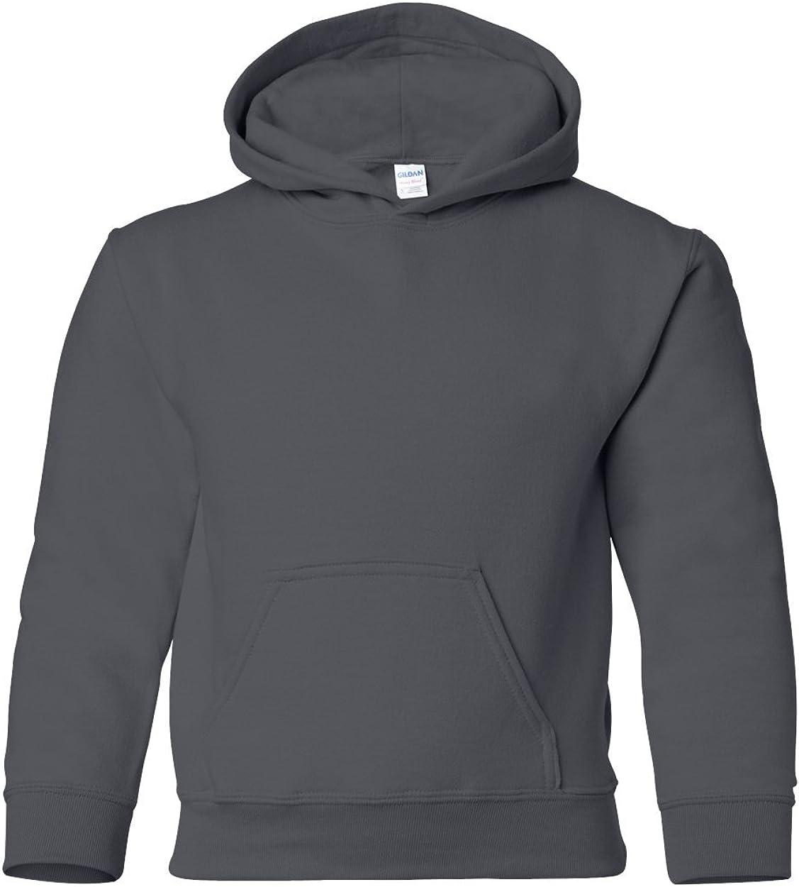 Gildan Heavy Blend Youth Hooded Sweatshirt, Charcoal, Large