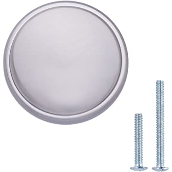 paquete de 25 con forma de seta aplanada cromo pulido Pomo de armario Basics 2.90 cm de di/ámetro