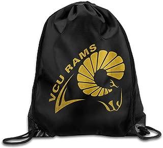 KAKALINQ NCAA Virginia Commonwealth University VCU RAMS Logo Drawstring Backpack Bag