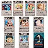 upain Big Fun One Piece Wanted - Póster (42 x 28,5 cm, 10 unidades)