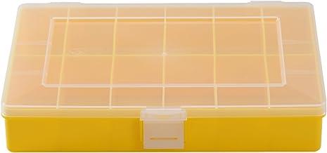 Hünersdorff assortimentsdoos: stabiele sorteerbox (PS) transparant of gekleurd. 12 12, geel.