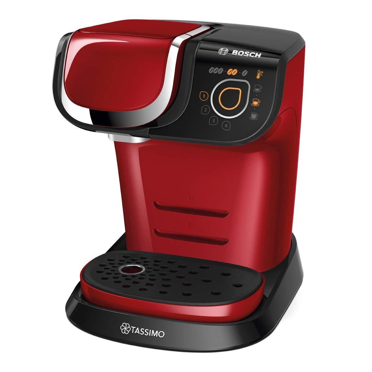 Bosch TAS6003 TASSIMO My Way Cafetera de cápsulas, 1500 W, color rojo: Amazon.es: Hogar
