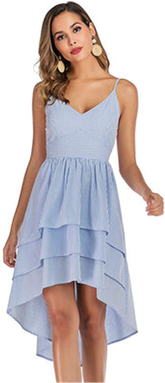 Womens Sleeveless Adjustable Sling Sundress Fashionable Dress 2021 Summer V-Neck