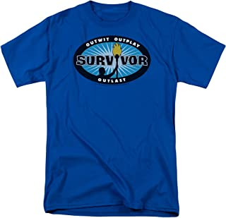 Survivor CBS TV Television Show Blue Burst Tee Adult Unisex Soft Mens T-Shirt