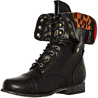 Soda Dome Mid Calf Height Women's Military/Combat Boots