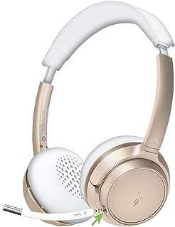 Avantree AH6B Bluetooth 5.0 Headset with Mic, 22+Hr Talk Time, Soft Padding, Lightweight, Wireless On-Ear Headphone with M...