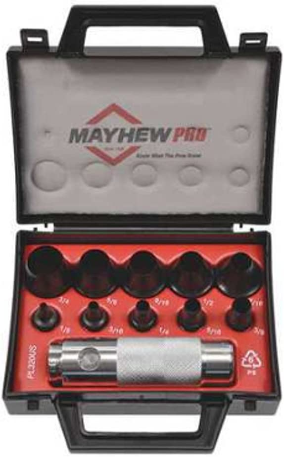 Mayhew Pro 66008 1 8-Inch to Mail order Punch 3 Hollow SAE Set 4-Inch Save money