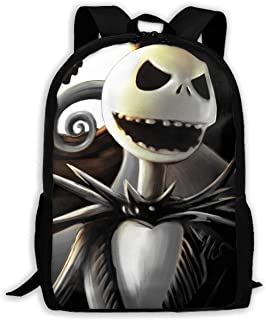 Custom Jack Skellington Casual Backpack School Bag Travel Daypack Gift
