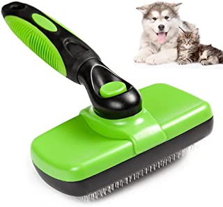 Self Cleaning Slicker Brush for Dogs and Cats, Groomer Shedding Grooming Tools Combs Rakes, Gently Removes Shedding Mats T...