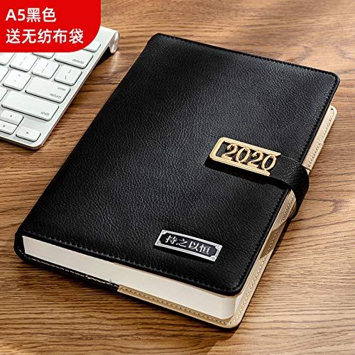 tagebücher tagebücher Thick book notebook a5 teacher with simple diary book college student class notes business notebook thickening-black