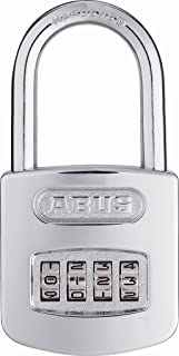 "ABUS 160/50 All Weather Chrome Combination Padlock - Long Shackle (2"")"