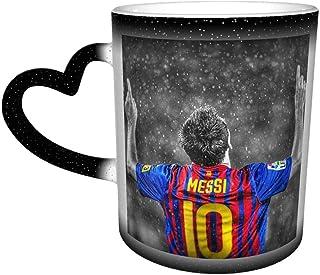 Messi メッシ Fcバルセロナ 3d柄プリント マグカップ コーヒーカップ 変色カップ 魔法カップ 夜空カップ 星カップ おしゃれ ハート 温度 色が変わることできる カップ 耐熱ガラス 軽量 食器 贈り物