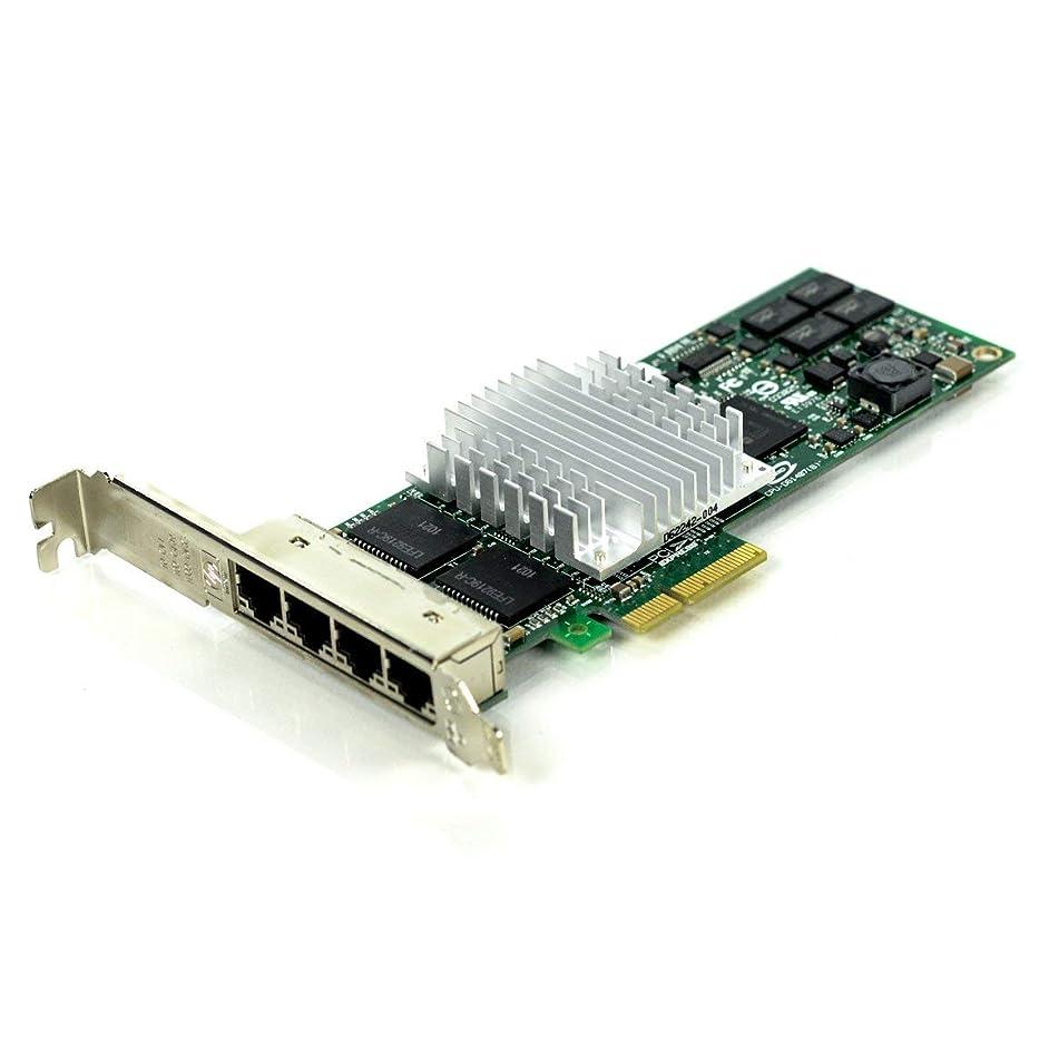 部屋を掃除する回転タックルHP 436431-001 NC364T クアッドポート ギガビット イーサネット アダプター ボード - 外部 RJ45 10/100/1000Mb ポート4個 - ロープロファイル (またはフルハイト) x4 PCIe スロット (認定整備済み)