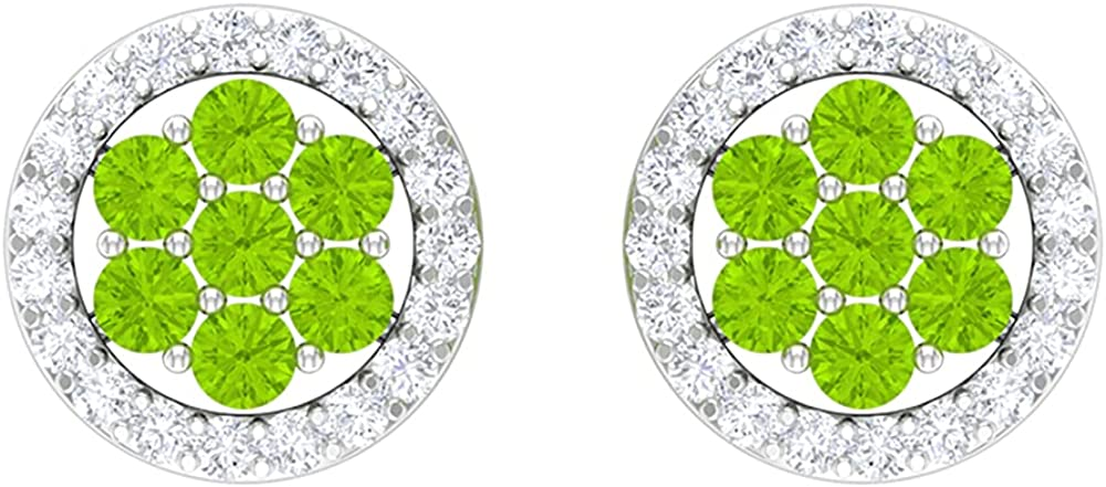 1 Phoenix Mall 4 CT Floral lowest price Stud Earrings Diamond Created Kryptonite with and