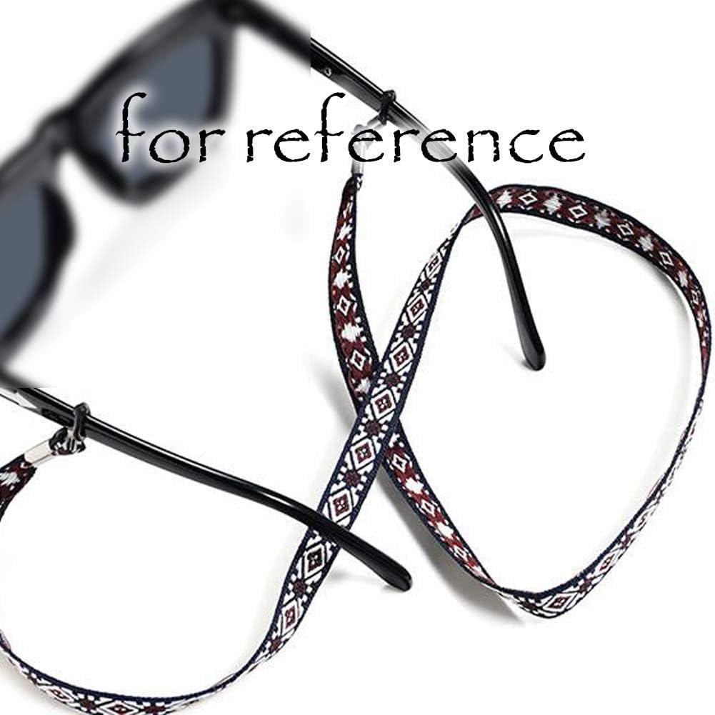 2 Pcs Random Color Sport Glasses Chain Cloth Eyeglass Holder Wide Sunglass Strap Reading Glasses Chain Necklace