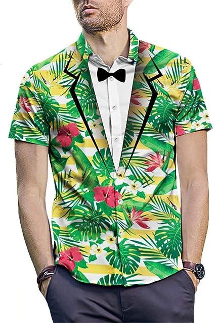 Camisa de vestir para hombre con estampado 3D Summer Beach ...