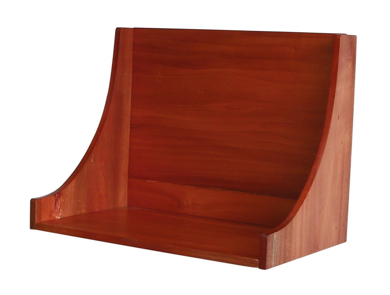 壁美人 マホガニー ホチキスで取付壁掛け家具 シェルフ42L ナチュラル 痕が目立たない MSH42LNA 幅420×奥行265×高さ322mm
