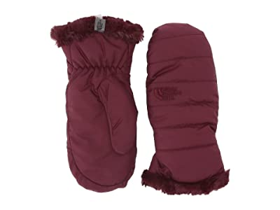 The North Face Kids Reversible Mossbud Swirl Mitt (Big Kids) (Deep Garnet Red) Extreme Cold Weather Gloves