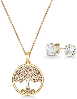 Mestige Necklace and Earrings Set, with Swarovski Crystals - MSSE3337